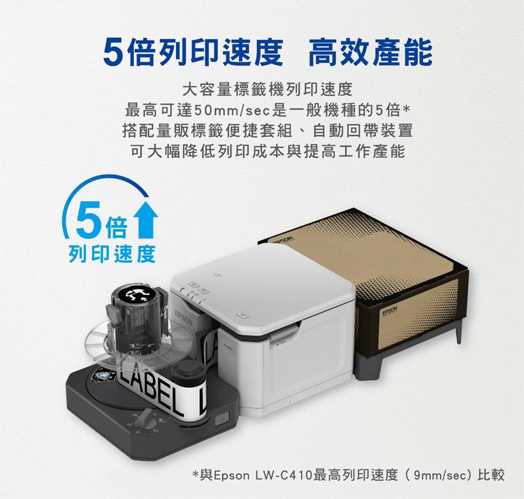 lw-5000 5倍列印速度  便捷套組 自動回帶裝置