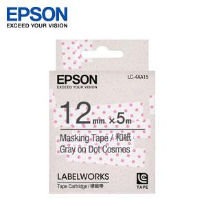 和紙標籤帶 粉紅透明底灰字